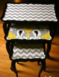 Dwell Studio Inspired Nesting Tables    http://www.ofallthefish.com/diys/?currentPage=3