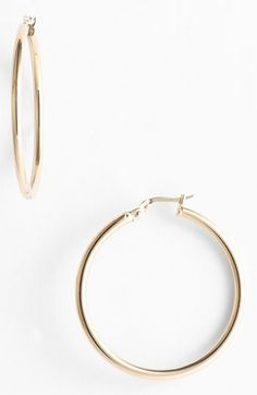 Roberto Coin 35mm Gold Hoop Earrings available at #Nordstrom