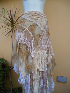 vintage inspired extra shabby cotton wrap skirt or shawl