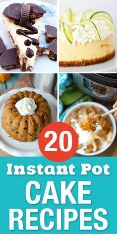 Easy Instant Pot Cake Recipes for your sweet tooth! These delicious pressure cooker desserts are great for when you need something sweet quick. All kinds of amazing cheesecake recipes and one of my favorites is a chocolate lava cake! Instant Pot Cake Recipe, Instant Pot Dinner Recipes, Pot Recipe, Instant Recipes, Easy Cake Recipes, Easy Desserts, Dessert Recipes, Delicious Desserts, Delicious Chocolate