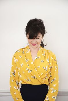 The Anderson Blouse // Sew Over It // a wrap front blouse with a vintage edge