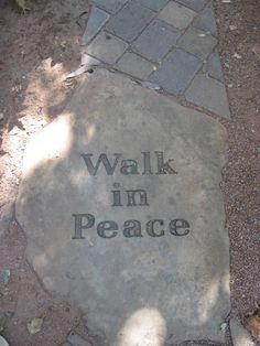 LOVE --> walk in peace garden paver