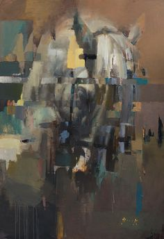 """""""Troy"""" by Christian Hook is an almost abstract, and yet also an emotionally rendered horse portrait."""