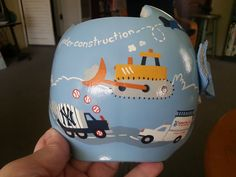 Paula Strawn paints for a living, but she doesn't need an easel or paper -- the California woman decorates corrective helmets for infants with beautiful, customized designs.  Flat-head syndrome is a