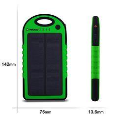 Cargador Solar de 5000mAh Yokkao® Batería Solar Externa portátil 2 USB con LED (Verde) - http://cargadorespara.com/comprar/solares/cargador-solar-de-5000mah-yokkao-bateria-solar-externa-portatil-2-usb-con-led-verde/