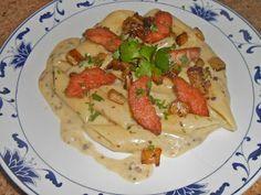 Shawna's Food and Recipe Blog: Ris de veau et petite l'aubergine sautés aux pennoni pâtes l'allemande