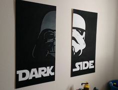 Star Wars darth Vader stormtrooper silhouette canvas