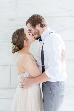 Gown from Sealed With A Kiss - sealedwithakissbridal.com Soft & Classic Affair in Charlottesville on Borrowed & Blue.  Photo Credit: Lisa Mims Photography