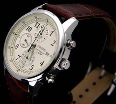 Seiko Men's SNDC31 Chronograph 100M water-resist classic watch