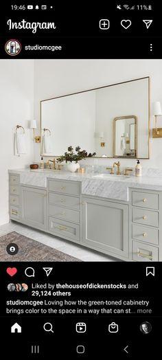 Master Bath, Master Suite, Bathroom, Studio Mcgee, Rug Runner, Bring It On, Vanity, Instagram, Canning