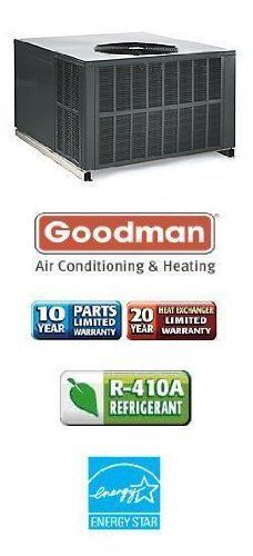 2.5 Ton 15 Seer Goodman 90,000 Btu 80% Afue Gas Package Air Conditioner - GPG153009041 by Goodman. $2559.00. Single Stage Air Conditioner with Horizontal/Downflow Supply/Return (R-410A) Gas Heat Package Air Conditioner is an all-in-one Heating and Air Conditioning unit including blower. Eliminates need for indoor air handler and copper lines.. Save 29% Off!
