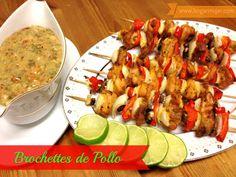 #Receta: Brochettes de Pollo