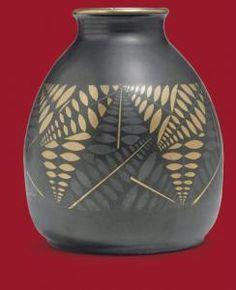 Jean Luce - A Glazed And Gilt Stoneware Vase 1929