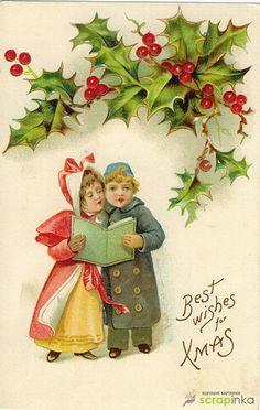 Открытка своими руками на Новый год — картинки для распечатки   Скрапинка - дополнительные материалы для распечатки для скрапбукинга