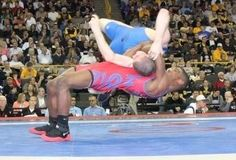 """United States 60 kg Greco-Roman wrestler Ellis Coleman became an internet sensation with his """" Flying Squirrel """" take down in the World Junior Championships, and that is exactly why he is vulnerable at the 2012 London Olympics . Olympic Wrestling, Flying Squirrel, Sports Training, Olympics, Competition, Athlete, Running, My Love, Blog"""