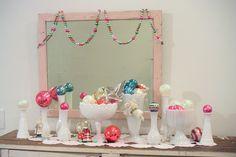 ornaments in white milk glass