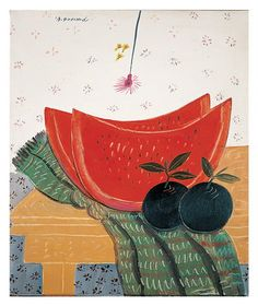 A hot day, 1996 Alekos Fassianos, Gallery E. Art And Illustration, Illustrations, Modern Art, Contemporary Art, Greek Paintings, Greek Art, Artist Art, Art Day, Watercolor Paintings