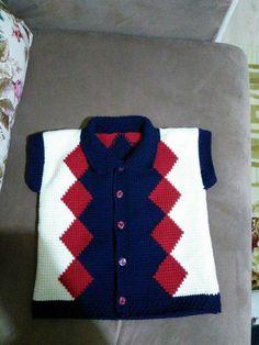 Baby Knitting Patterns, Baby Sweater Knitting Pattern, Knit Baby Sweaters, Knitting Designs, Pullover Sweaters, Tunisian Crochet, Baby Cardigan, Wool, Vest Coat