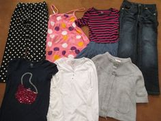 Girls Size 8 Casual Wear 7 Pieces Assorted Brands Gymboree Old Navy 1989 Place  #Assorted #Everyday