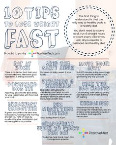 10 tips to lose weight fast. These tips are good! Haven't seen some of them before.