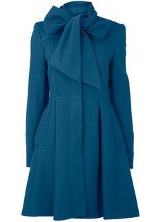 statement blue winter coat