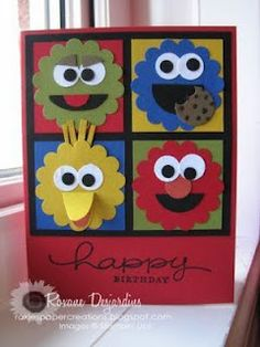 Roxie's Paper Creations: Sesame Street Punch Art Card
