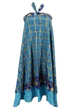 Women's Magic Wrap Skirt Aqua Blue Silk Sari Two Layer Re... https://www.amazon.com/dp/B01MAXOZ3H/ref=cm_sw_r_pi_dp_x_iZmDybCW716T1 #skirt #wrapskirt #bohemian #magicskirt