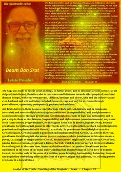 45) Rage also leads to bloody deeds (killing), to battles (wars) and to infamous actions (crimes) of all stripes (kinds/forms), therefore also to coarseness and blindness towards other people of your kind (human beings), with your own parents, children, brothers and sisters, kith and kin (relatives) and even husband and wife not being excluded; however, rage can only be overcome through peaceableness, equanimity (composure), patience and mildness.