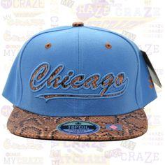 TopCul Urban Hip Hop Rap Streetwear Hat Faux Snake Skin Chicago Snapback Cap – MyCraze #TopCul #Streetwear #HipHop #Chicago #Snapback #BaseballCap