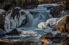 Photograph by Stuart Litoff. #Ice on the #rapids at the #Chesapeake&Ohio #NationalPark also known as #GreatFalls or the #C&OCanal.