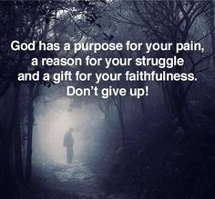 God is in control and HE has a plan.