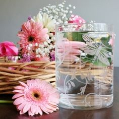 How to make an etched glass vase. It makes a great Mother's Day Gift!
