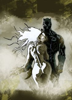 "Storm | Ororo Munroe & Black Panther | T'Challa ""African Hero"" by ~ksrp2v on deviantART"