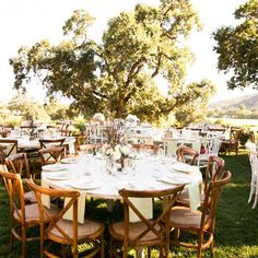 Outdoor reception in Napa, CA. Photography by Adeline & Grace Intimates. More: http://www.theknot.com/weddings/album/171922