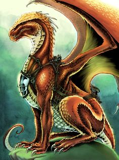 # DRAGON Maximus - Regal Copper - Color by *saulone Traditional Art / Drawings / Fantasy *saulone Maximus the Regal Copper from Naomi Novik's series of Temeraire novels. Dragon Rider, Dragon 2, Fire Dragon, Fantasy Creatures, Mythical Creatures, High Fantasy, Fantasy Art, Copper Dragon, Dragon Artwork