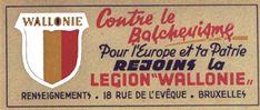 Affiche de recrutement pour la Légion SS Wallonie. propagande nazi NS poster Plakat