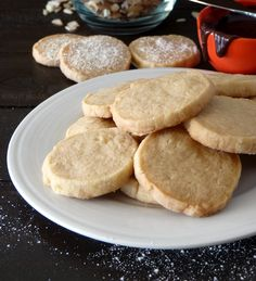 Coconut Oil Shortbread cookies - I swear these are the easiest cookies on this board. Literally no shopping required. Vegan Sweets, Healthy Sweets, Vegan Desserts, Vegan Food, Coconut Oil Cookies, Baking With Coconut Oil, Coconut Oil Recipes Food, Coconut Macaroons, Cookie Recipe With Oil