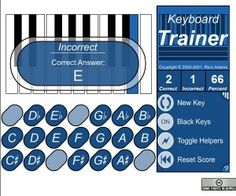 Use this online free interactive Keyboard Trainer created by Ricci Adams, to test your piano skill now!  A fun music training tools for all ages.