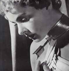 Ingrid Bergman wearing Dali's remarkable choker in • Spellbound Directed by Alfred Hitchcock 1945