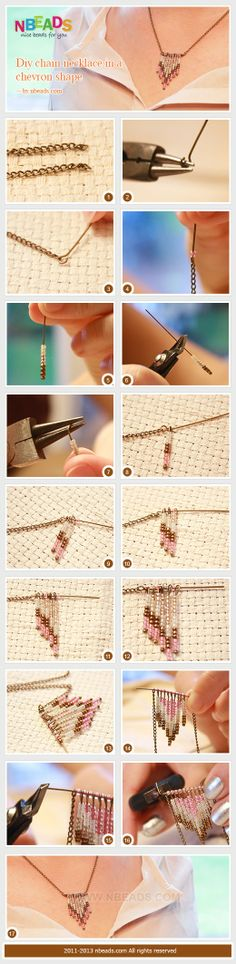 DIY Chain Necklace in A Chevron Shape by Amanda Wong | Project | Jewelry / Accessories | Kollabora