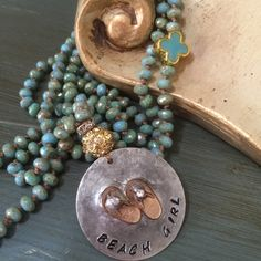 A personal favorite from my Etsy shop https://www.etsy.com/listing/267691535/boho-chic-beach-girl-hand-knot-blue