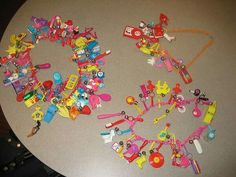 I remember these plastic chains and charms