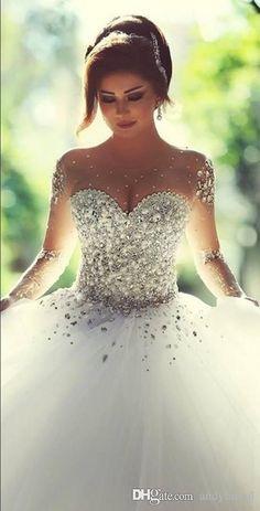 Vestido de novia corte princesa | bodatotal.com | wedding ideas, bodas, bride, novia: