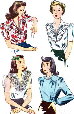 Vintage Sewing Pattern 1940s Simplicity 4507 Sexy by paneenjerez, $16.00