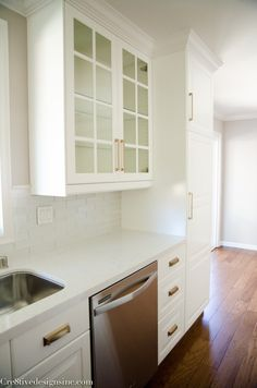 Kitchen Remodel Using Ikea Cabinets Counter Tops Are White