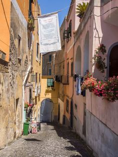 Terra Murata, a section of the island of Procida, Italy.