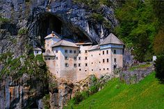 Predjamski Castle, Slovenia, gained its fame because it is integrated into a cave, more specifically, in the second largest cave system in Slovenia. Translation of its name is more than eloquent: The Castle in front of the cave. The castle was first mentioned in the year 1274 with the German name Luegg.