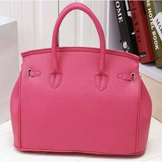 Solid Medium Hard PU Leather Handbags with Cell Phone Pocket Interior and Sequined Decoration