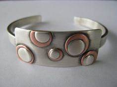 Sterling Cuff Bracelet with Copper and by AngieMeyersDesigns, $135.00