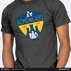 """Get """"Acme Labs"""" from artist SnoMad_Designs  today only, November 1, for $10 at RIPT Apparel. www.riptapparel.com"""